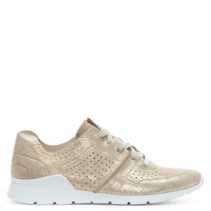 Tye Stardust Gold Leather Metallic Sneakers