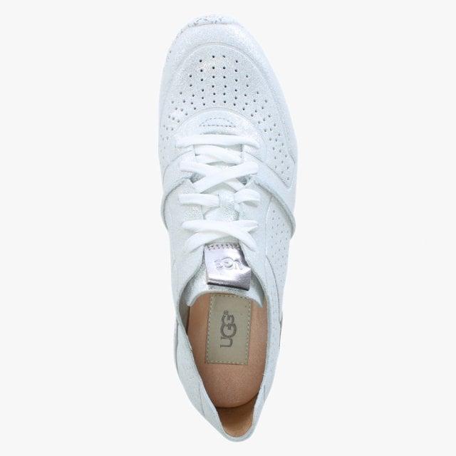 7d85e019a5c Tye Stardust Silver Metallic Leather Sneakers