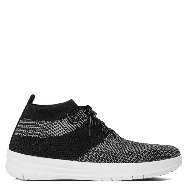 Uberknit Black Slip On High Top Trainers