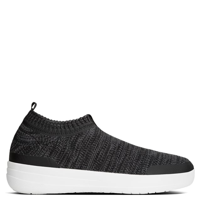 Fitflop Uberknit Black Slip On Sneakers