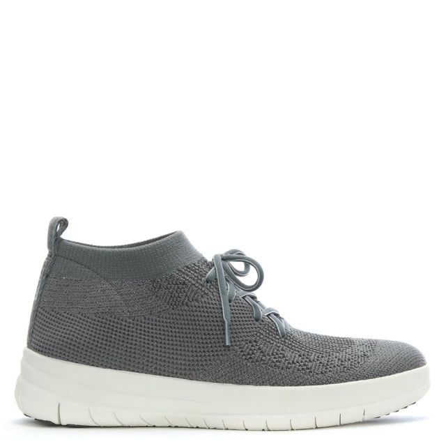 Women's Shoes|Trainers & Running Shoes|Trainers & Running Shoes Uberknit Pewter Metallic Slip On High Top Trainers