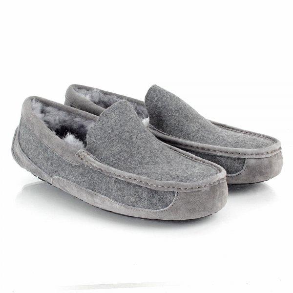 9aa3cd47ce UGG® Ascot Mens Slipper Grey - Men from Daniel Footwear UK