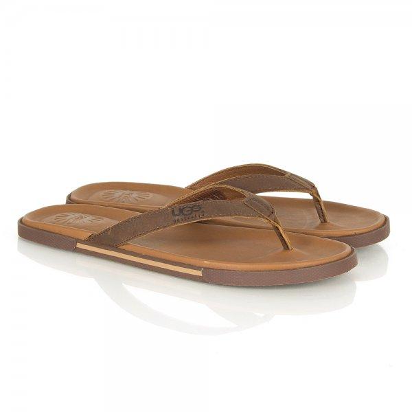 7fbddddca464 UGG® Luggage Bennison Men s Leather Flip Flop
