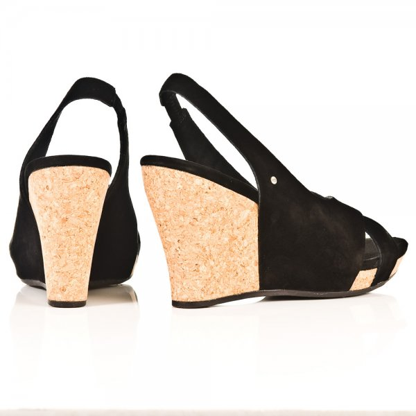 11952526036 Black Hazel Women  039 s Wedge Sandal