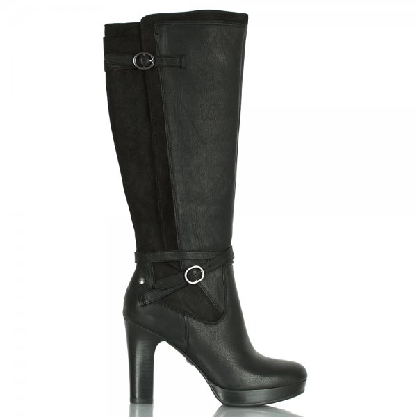 13b06cd5a63 UGG® Black Linde Women s Leather Knee High Boot