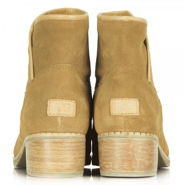 Darling Chestnut Suede Leather Ankle Boot