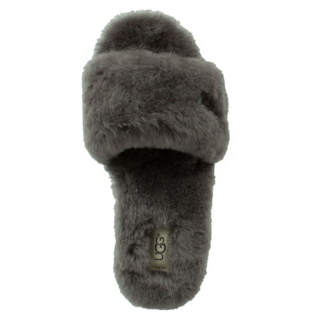 a01429b6f2e Fluff Slide Grey Sheepskin Slider Slipper