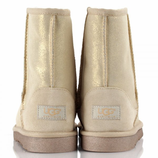 Gold Kids Classic Glitter Kids Boot