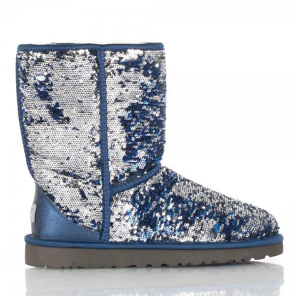 ugg navy classic short sparkle women s flat boot rh danielfootwear com