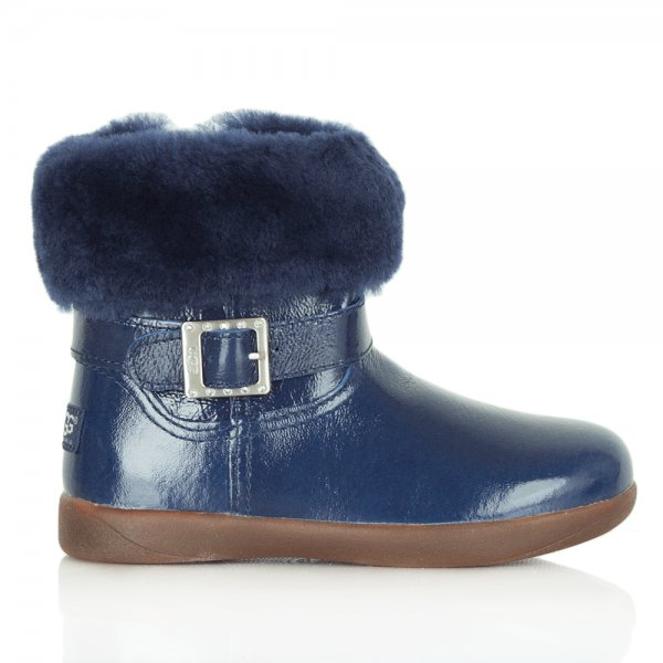 Toddlers Gemma 1005149T Blue Patent Boot