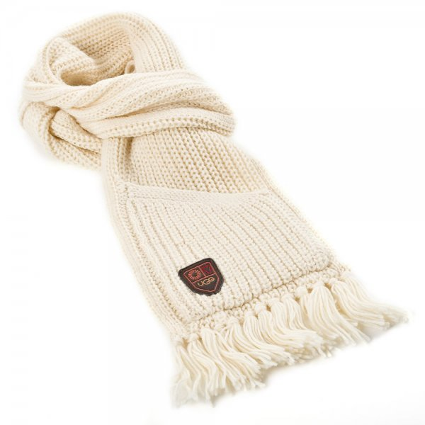 UGG® Cream Cardy Pocket Womens Knitted Scarf