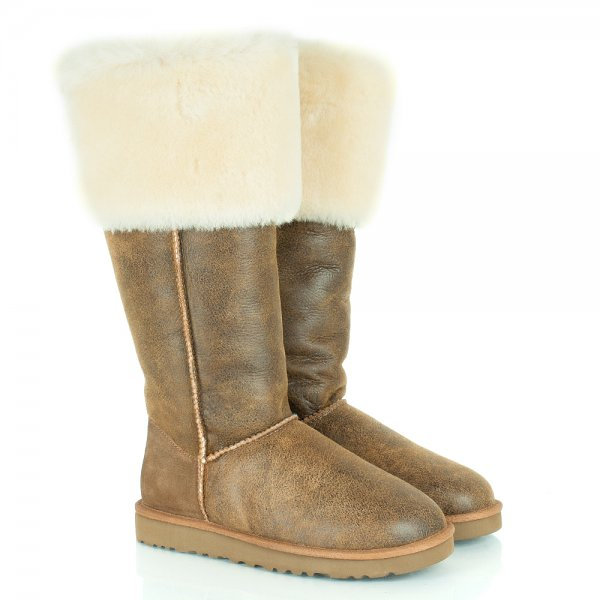 UGG(R) Chestnut Over Knee Bailey Button Womens Boot - Women from ... 931603f7be