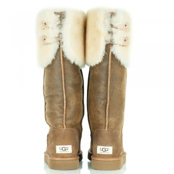 78bc496ffbf UGG(R) Chestnut Over Knee Bailey Button Womens Boot - Women from ...