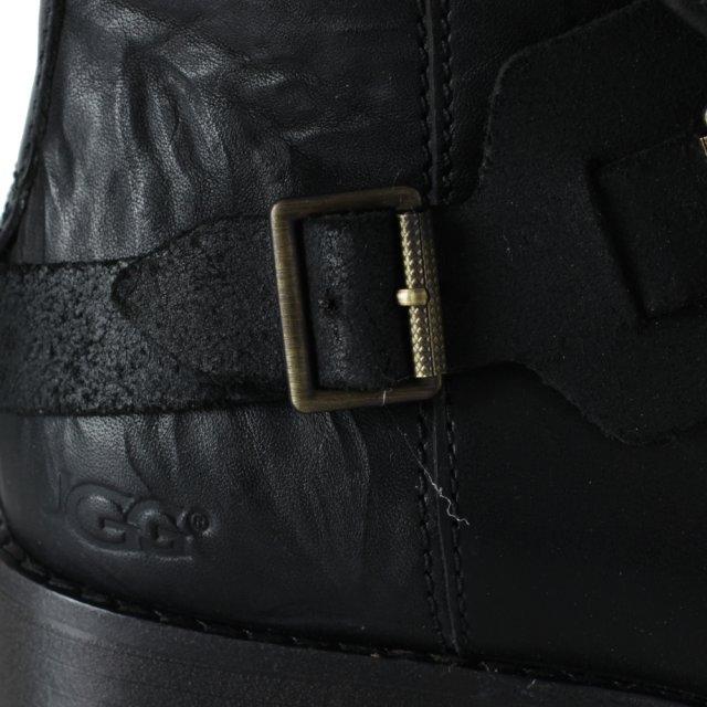 4878e1f2d25 Cybele Black Leather Biker Ankle Boot
