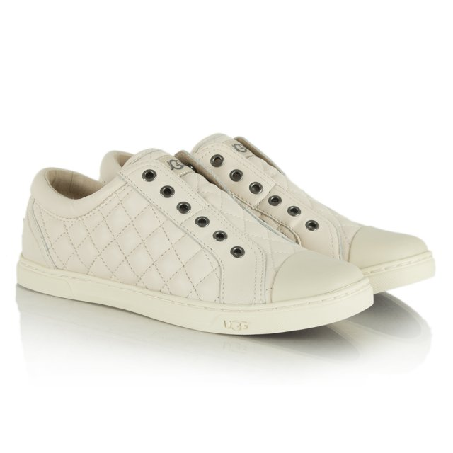 d0fd456b5f UGG Australia Jemma Quilted White Leather Trainer