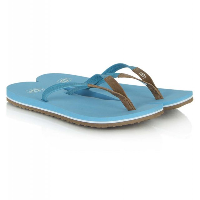 ce2fd84e52e Magnolia Blue Leather Flip Flop Sandal