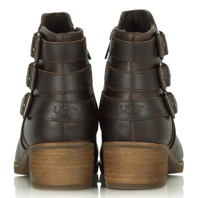 f74318560d726 Volta Brown Leather Ankle Boot