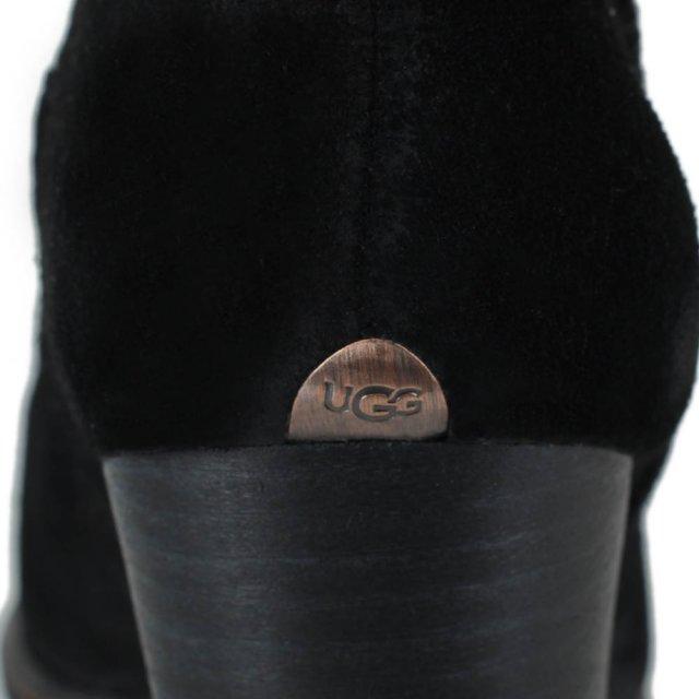 c27b7832434 Charlee Black Suede Heeled Ankle Boot