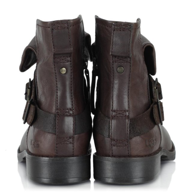 fcb2f1d86a4 Cybele Lodge Leather Biker Ankle Boot