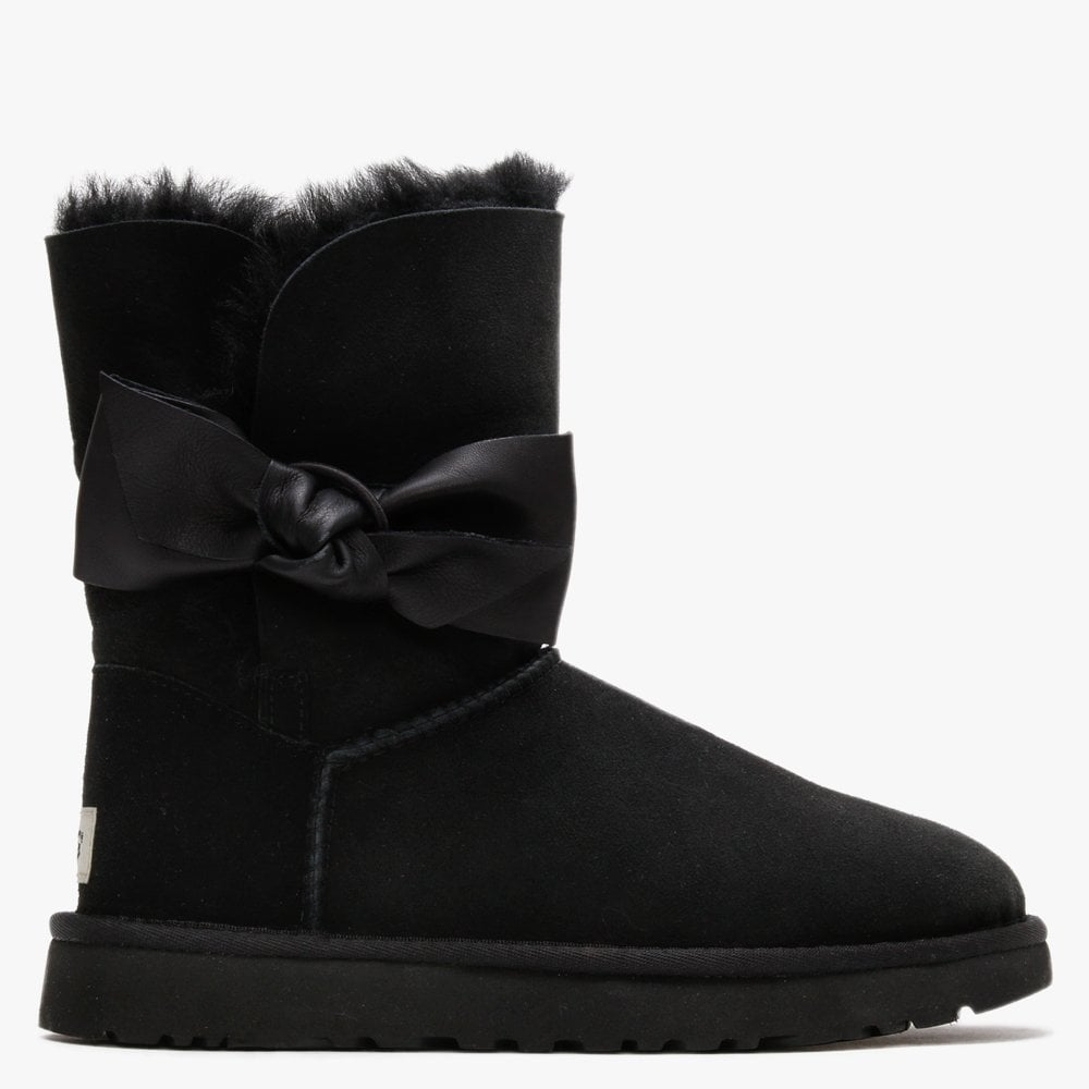 UGG Daelyn Black Twinface Leather Bow