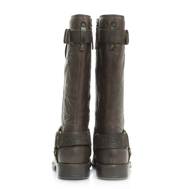 00e4f5712e5 UGG Damien Lodge Leather Knee High Biker Boot