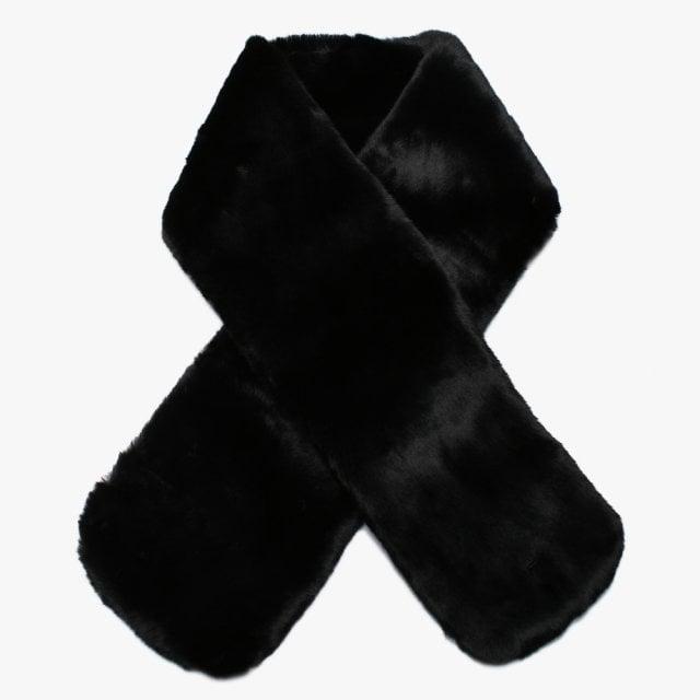 UGG Faux Fur Black Pull Through Scarf