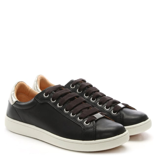 UGG Milo Black Leather Lace Up Trainers
