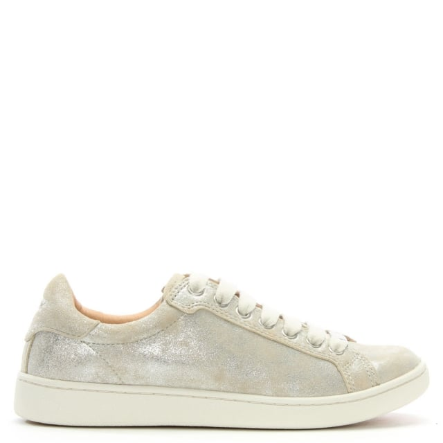 UGG Milo Stardust Leather Lace Up Trainers