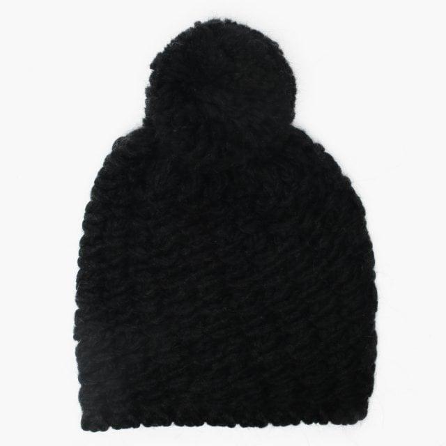 UGG Women s Yarn Black Pom Pom Beanie Hat a176e4f5fa7