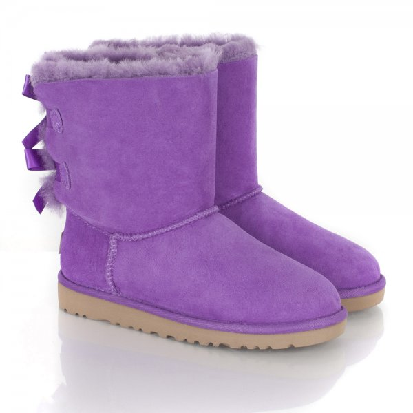 Light Purple Uggs With Bows