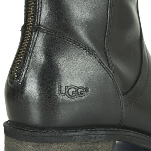75b9f920964 Seldon Black Leather Knee High Boot