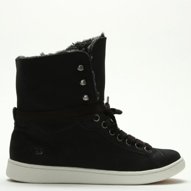 UGG Starlyn Black Suede High Top Trainers