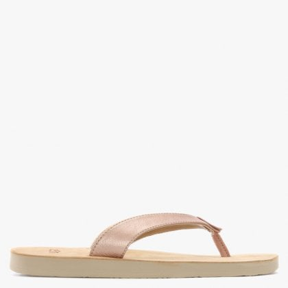 cb8ac72a3de UGG Tawney Rose Gold Metallic Toe Post Flip Flops