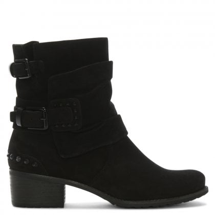 63e4e64c0963e Union Black Suede Biker Boot. Free Standard UK Delivery