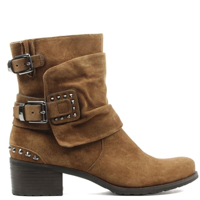 Union Tan Suede Biker Boot