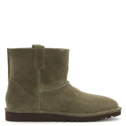 Unlined Mini Spruce Suede Boot