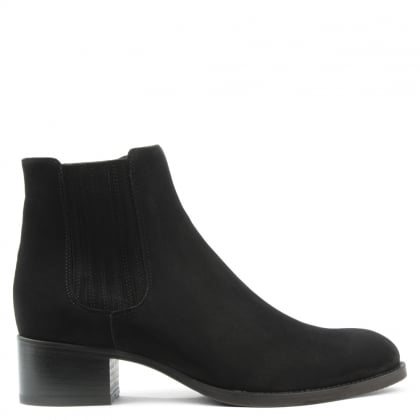 Vented Black Suede Chelsea Boot
