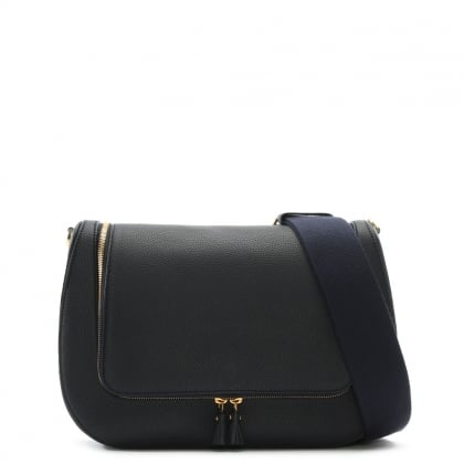 Vere Maxi Navy Leather Satchel Bag