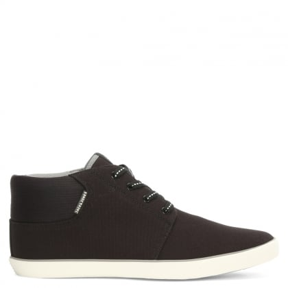 Vertigo Black Fabric High Top Trainer