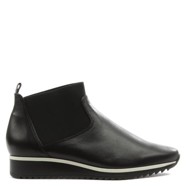 Victoria Black Leather Chelsea Boot