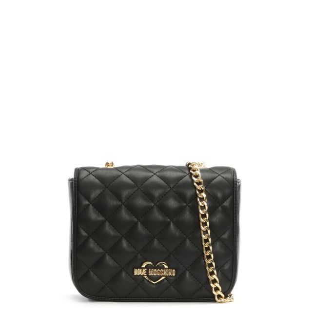 Victoria Black Quilted Cross-Body Bag