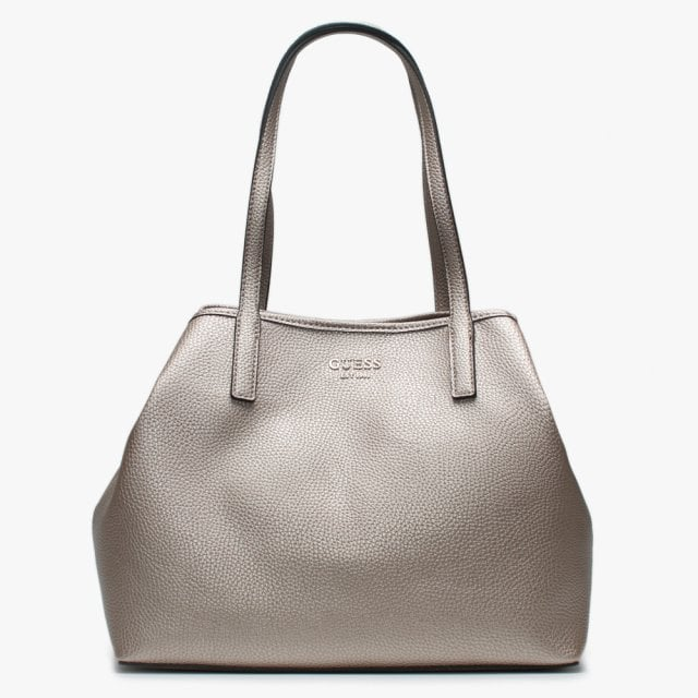 3585e43cefd Vikky Pale Bronze Pebbled Tote Bag