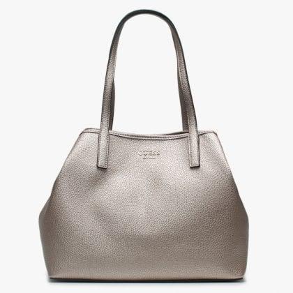 cc845f8b43 Vikky Pale Bronze Pebbled Tote Bag