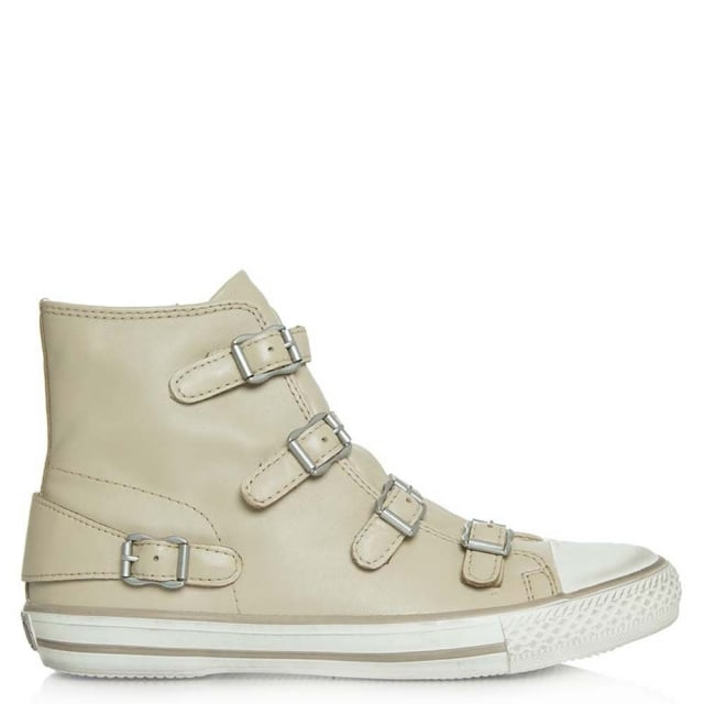 Virgin Beige Leather High Top Trainer