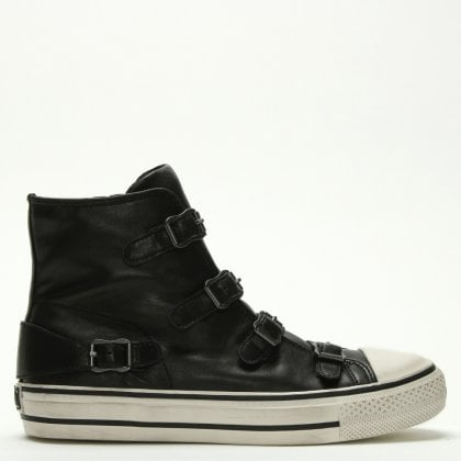 6da43f58a Ash Virgin Bis Black Leather Buckled High Top Trainers