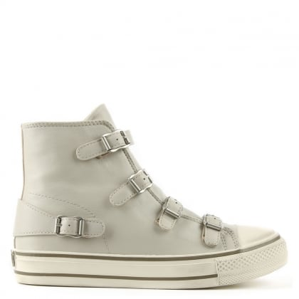 Virgin Pearl Leather High Top Trainer