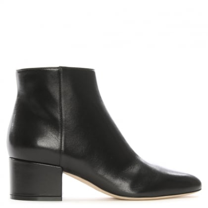 Virginia 45 Black Leather Ankle Boots