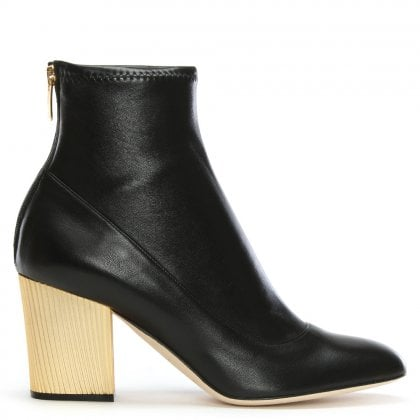 Virginia 75 Black Leather Ankle Boots