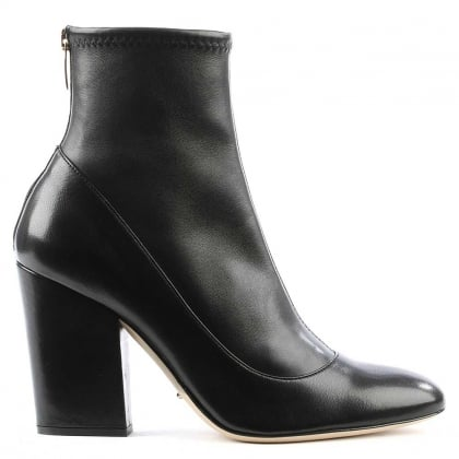 Virginia Black Leather Ankle Boot