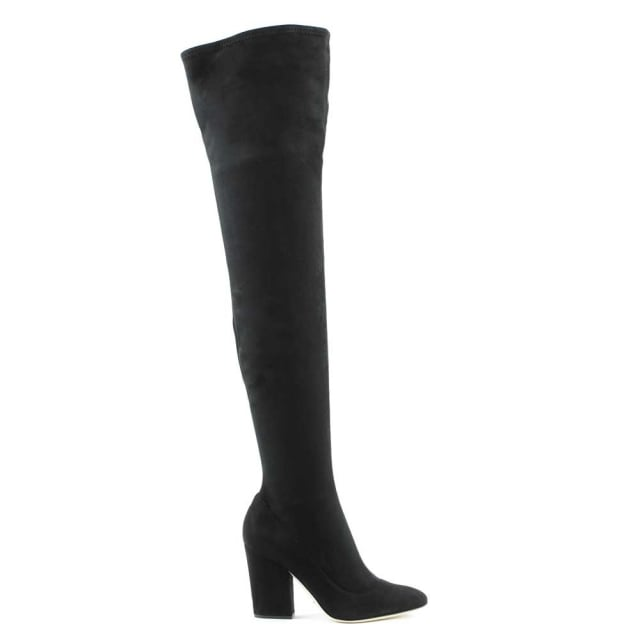 Virginia Black Suede Over The Knee Boot